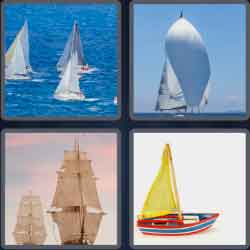 4 pics 1 word 8 letters sailboat