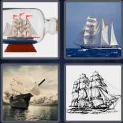 4 pics 1 word 8 letters schooner