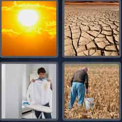 4 pics 1 word 8 letters scorched