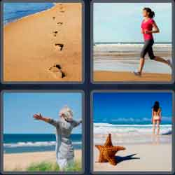 4 pics 1 word 8 letters seashore