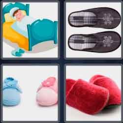 4 pics 1 word 8 letters slippers
