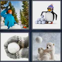 4 pics 1 word 8 letters snowball