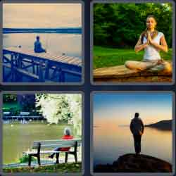 4 pics 1 word 8 letters solitude