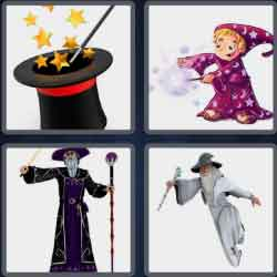 4 pics 1 word 8 letters sorcerer