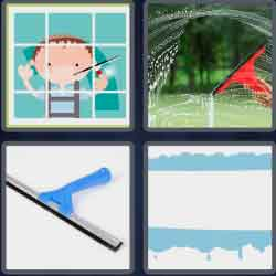4 pics 1 word 8 letters squeegee