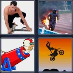 4 pics 1 word 8 letters stuntman