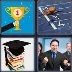 4 pics 1 word 8 letters succeed