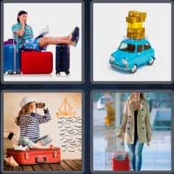4 pics 1 word 8 letters suitcase