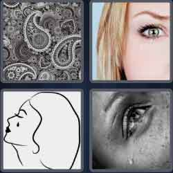 4 pics 1 word 8 letters teardrop