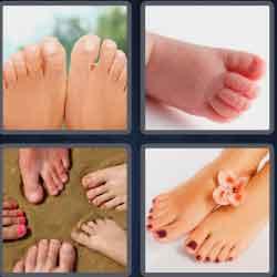 4 pics 1 word 8 letters toenails