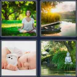 4 pics 1 word 8 letters tranquil