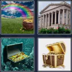 4 pics 1 word 8 letters treasure
