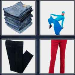 4 pics 1 word 8 letters trousers