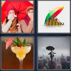 4 pics 1 word 8 letters umbrella