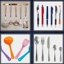 4 pics 1 word 8 letters utensils