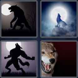 4 pics 1 word 8 letters werewolf
