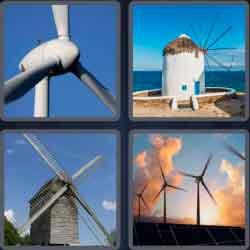 4 pics 1 word 8 letters windmill