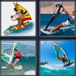 4 pics 1 word 8 letters windsurf