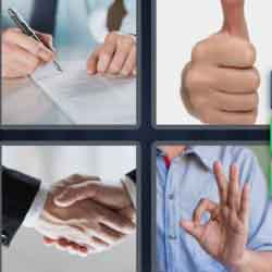 4 Pics 1 Word 9 Letters Agreement