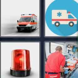 4 Pics 1 Word 9 Letters Ambulance