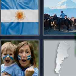 4 Pics 1 Word 9 Letters Argentina