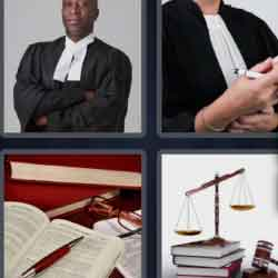 4 Pics 1 Word 9 Letters Barrister