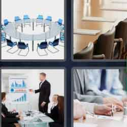 4 Pics 1 Word 9 Letters Boardroom