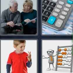 4 Pics 1 Word 9 Letters Calculate