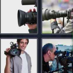 4 Pics 1 Word 9 Letters Cameraman