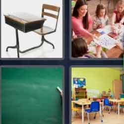 4 Pics 1 Word 9 Letters Classroom