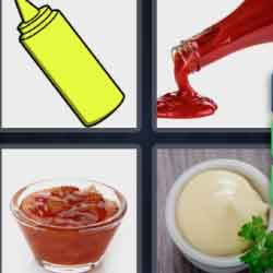 4 Pics 1 Word 9 Letters Condiment