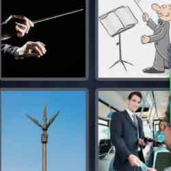 4 Pics 1 Word 9 Letters Conductor