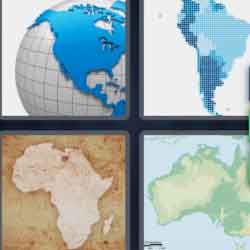 4 Pics 1 Word 9 Letters Continent