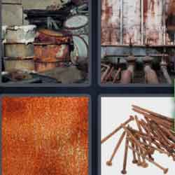 4 Pics 1 Word 9 Letters Corrosion