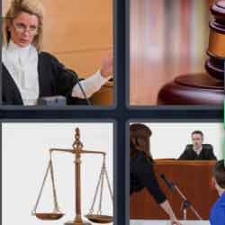 4 Pics 1 Word 9 Letters Courtroom