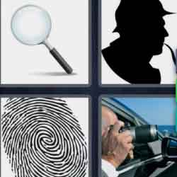 4 Pics 1 Word 9 Letters Detective
