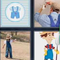 4 Pics 1 Word 9 Letters Dungarees