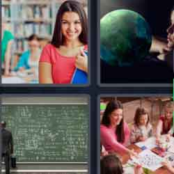 4 Pics 1 Word 9 Letters Education