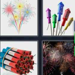 4 Pics 1 Word 9 Letters Fireworks