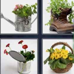 4 Pics 1 Word 9 Letters Flowerpot