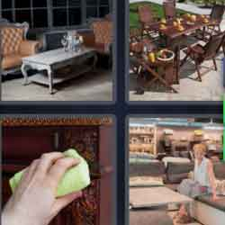 4 Pics 1 Word 9 Letters Furniture