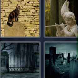 4 Pics 1 Word 9 Letters Graveyard