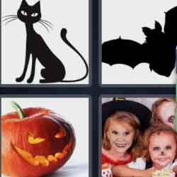 4 Pics 1 Word 9 Letters Halloween