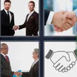 4 Pics 1 Word 9 Letters Handshake