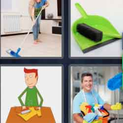 4 Pics 1 Word 9 Letters Housework