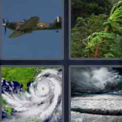 4 Pics 1 Word 9 Letters Hurricane