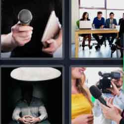 4 Pics 1 Word 9 Letters Interview