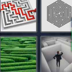 4 Pics 1 Word 9 Letters Labyrinth