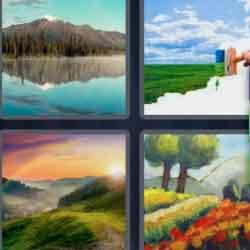 4 Pics 1 Word 9 Letters Landscape