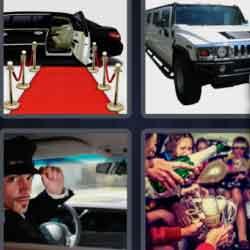 4 Pics 1 Word 9 Letters Limousine